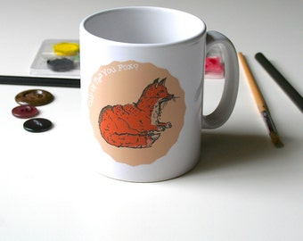 Fox Mug Cute Mug Woodland Mug Tea Lover Mug