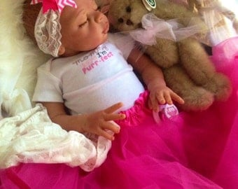 Completed Bi Racial Katira Completed Reborn Baby Doll from the Kaya 21 inch kit
