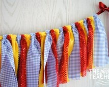 Wizard of Oz Fabric Garland - Wizard of Oz Fabric Bunting - Wizard of Oz Garland - 10% off Party Supplies Coupon