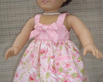 """Lovely Sundress for 18"""" doll with necklace"""