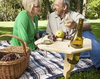 Portable Wine Table With Sturdy Stand