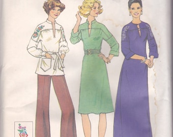 70s Tunic or Dress Pattern Simplicity 7272 Size 10 Uncut