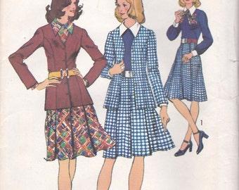 70s Dress & Jacket Pattern Simplicity 5246 Size 18 Bust 40 Uncut