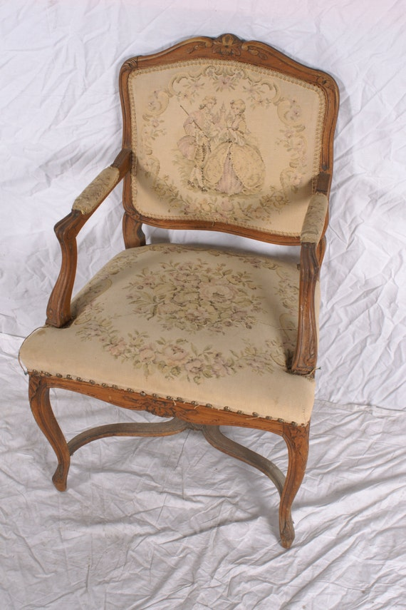 courting couple chair louis xiv style fauteuil reserved for. Black Bedroom Furniture Sets. Home Design Ideas