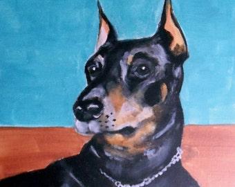 Custom Pet Portrait from your Photo ~ 11x14 or 16x20 Custom Acrylic Painting