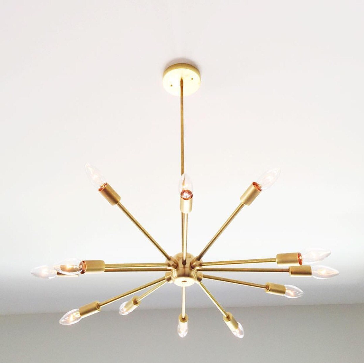 Twelve Sputnik Modern Solid Brass Light By Triplesevenhome