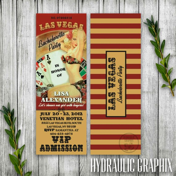 Las Vegas Bachelorette Party Invitation Ticket, Retro Pinup Bachelorette Party Invitation, Casino Night Ticket Invitation Printable, Poker