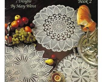 Pineapple Doilies Book 2 Crochet Pattern Book  / Leisure Arts 2502