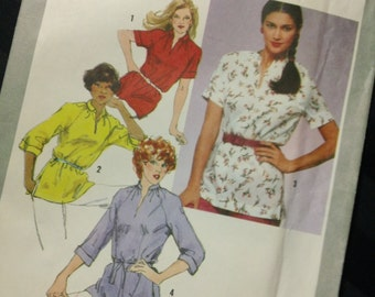 Simplicity Pattern 9495 - Misses' Pullover Tunic in Half Sizes vintage 1980 uncut Sewing Pattern Size 20.5