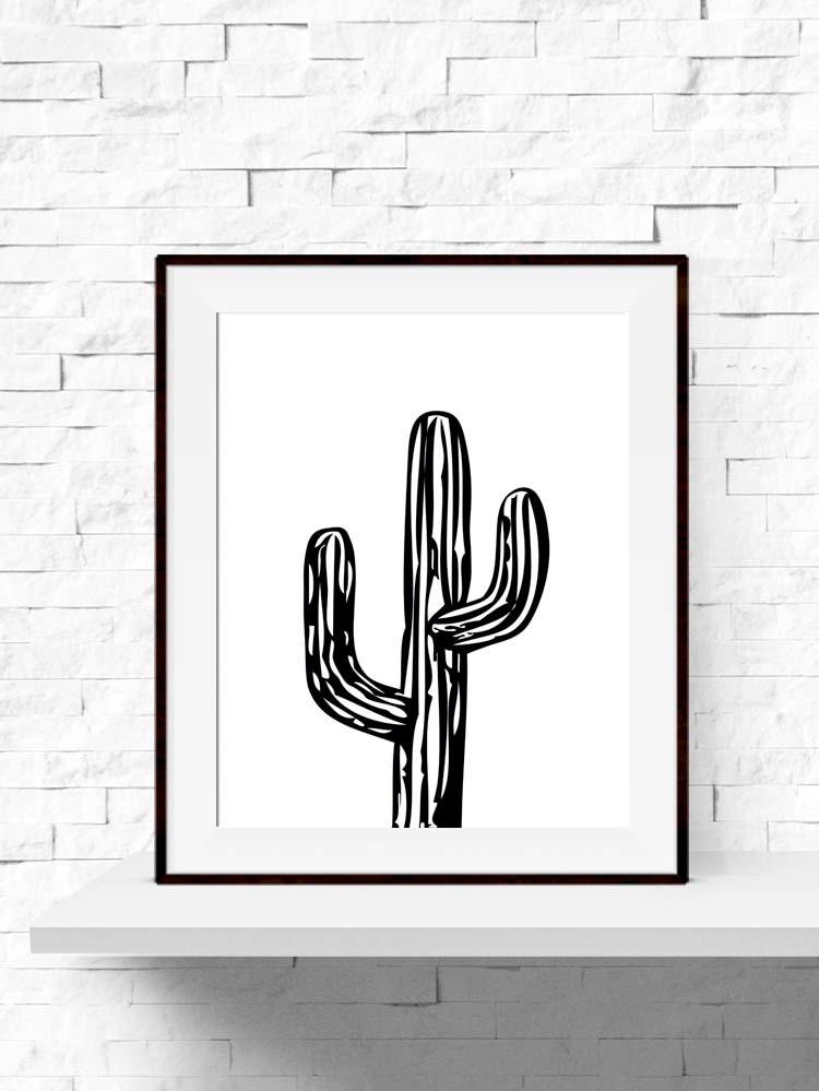 cactus print cactus plant garden art print cactus printable. Black Bedroom Furniture Sets. Home Design Ideas