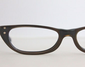 Vintage 50's Mocha Cat Eye Eyeglasses Frames