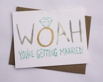 Congratulations// Funny Engagement Card