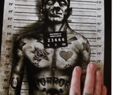 Franky Arrested Art Print hand Signed by Marcus Jones