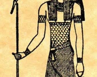 Ancient Egyptian Crocodile God Sobek Rubber Stamp