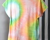 90s Pastel Neon Rainbow Tie-Dye T-Shirt