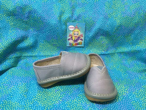 boys gray grey slip on squeaky shoes tennis by