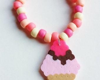 Ice Cream Bracelet - You Choose Color - Custom