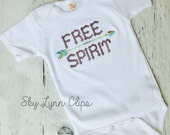 Free Spirit Embroidered Shirt or Bodysuit Toddler, Baby Unisex Sizes