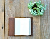 Extra Small Rusted Brown Leather Moleskine Notebook Cover (for Rachel)