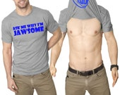 MENS Ask Me Why I'm Jawsome Flip T-Shirt funny shark tshirt, jaws, ocean lover, swim team, surfer, diving, swimmer S-5XL