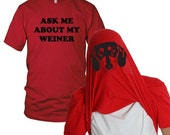 Mens Ask Me About My Wiener Dog Flip T-Shirt funny family pet, animal lover, dog, flipover shirt, hot dog, dachshund, back to school S-5XL