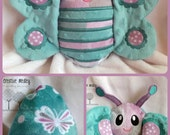 Peekaboo Butterfly In the Hoop Stuffed Softie - Reversible folds into an egg, ITH, IN The Hoop, Embroidery Design, Instant download