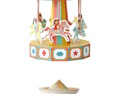 Carousel Paper Toy - Movable Paper Toy - DIY Paper Craft Kit