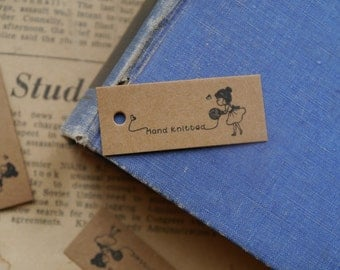 Knitting labels on etsy a global handmade and vintage for Hand knit labels