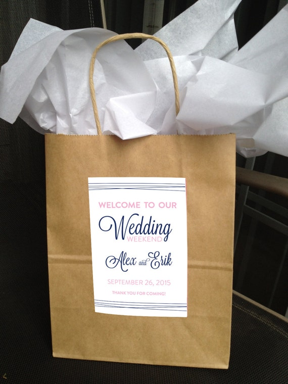 Katherine Collection Welcome Bag Labels  - You Choose Colors - LOVELY LITTLE PARTY