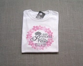 Princess of the Petals Personalized Flower Girl Wedding T-Shirt