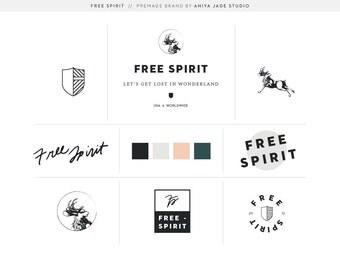 Jackalope | Hipster Premade Logo | Handwritten Logo | Photography Logo | Identity Branding | Full Logo Suite