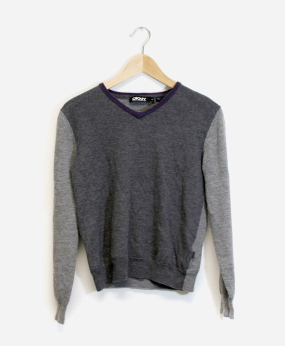 DKNY Wool Colorblock Sweater M