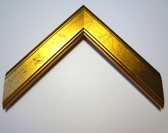 "Custom Gold Wood Frame, 1-3/8"" Wide, Made to Order"