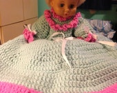 Money Doll with Hand Crocheted Dress & Hat