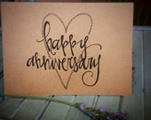 Hand drawn Happy Anniversary cards (pack of 10)