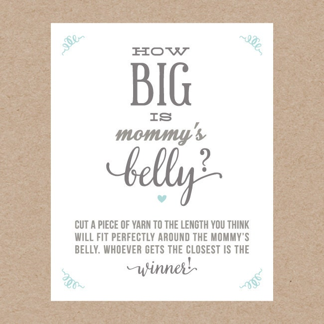 This is a photo of Universal How Big is Mommy's Belly Free Printable