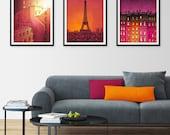 Any THREE Prints - Save 25%,Set of three Illustrations,Paris Art Print Poster Home decor Mixed media Nursery decor Kids wall art ideas