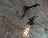 Katyzamora custom order - Industrial Wall Sconce - Caged Bulb - Pendant Edison - Industrial Furniture - Wall Light