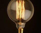 G30 Edison Filament Bulb - Squirrel Cage Bulb - Globe Edison Bulb