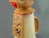 """Whirley Industries Moo Cow Creamer Milk Jug 6 oz Truck Stop Plastic Vintage 6"""""""