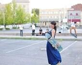 Mod Maxi Dress/ matching cardigan// s.m