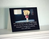 "Funny Silly Greeting Card Claudia Typographic Card (1) ""A Change of Scenery"" China Doll Photography"
