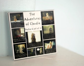 The Adventures of Claudia Postcard Set of (10) Vintage Porcelain Doll Cards Post Card Set