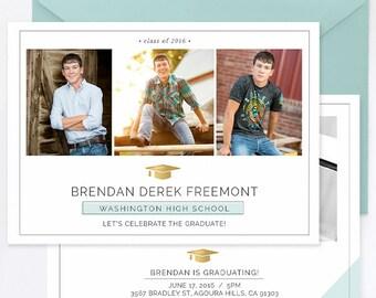 Senior Graduation Template for Guys, Senior Graduation Announcement Templates, Senior Templates, Photography Templates - GD142
