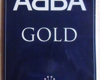 Vintage Music Book - ABBA Gold Greatest Hits, First Edition, Arranged for Voice, Piano and Guitar, Wise Publications 1992