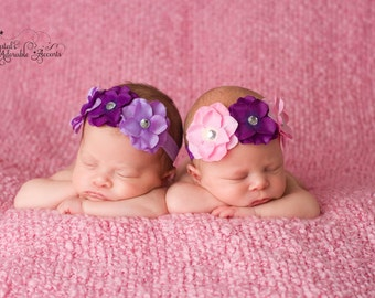 Hydrangea Headband Twin Set
