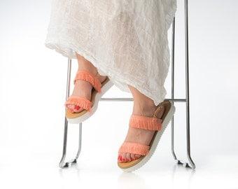 Flatform Sandals. Bridesmaids shoes. Summer leather sandals. Boho sandals. leather summer shoes. Summer flatforms shoes. Beachwear sandals