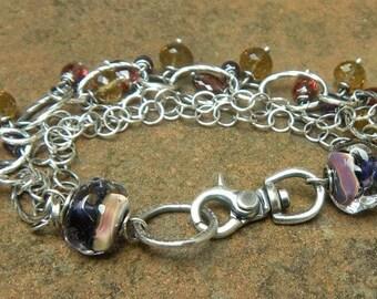 Boysenberry Bracelet // Bohemian Jewelry // Bohemian Bracelet // Rustic Refined Jewelry