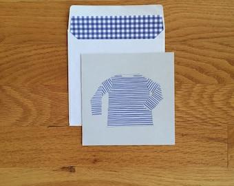 Paris Stripe Shirt Card