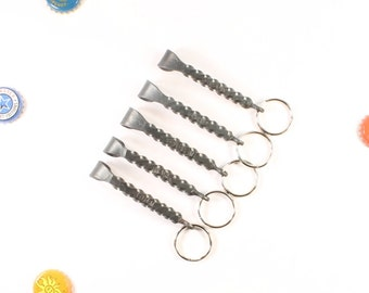 Groomsmen Gift set of 5 Keychain Bottle Openers with name engraved Unique gifts for groomsmen